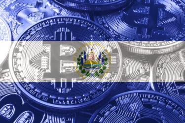 bandeira de el salvador em montagem com o bitcoin